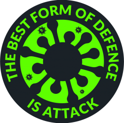 Virus Defence Sticker AW
